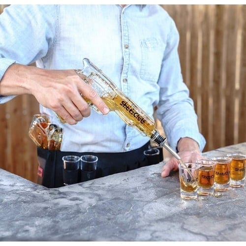 Gun Decanter with Shot Glasses