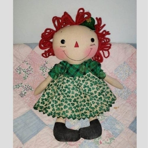Raggedy Cloth doll gift ideas st. patricks day iwantthisandthat2