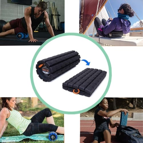 Collapsible foam Roller for muscle pain relief iwantthisandthat2 gifts