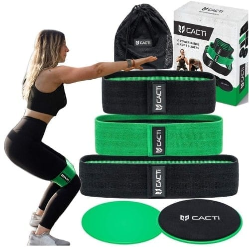 Hip Circle Resistance Bands Core Slider Exercise Set fitness workout iwantthisandthat2