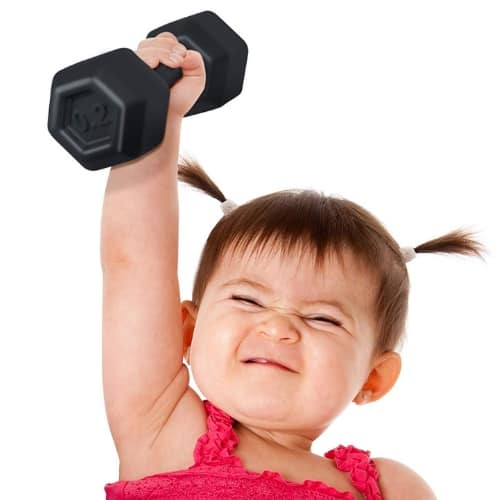baby dumbbell fitness activity rattle toy iwantthisandthat2 gifts