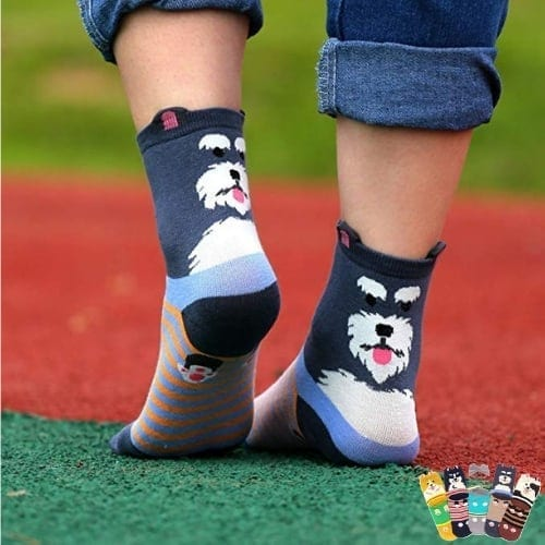 Cartoon Dog Crew Socks gift for her christmas iwantthisandthat2