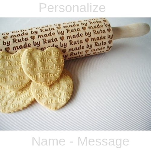 Personalized Embossing Rolling Pin iwanatthisandthat2