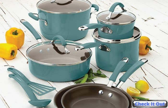 cookwear pots pans sets nonstick christmas rachael ray gift ideas for friends family coworkers iwantthisandthat2