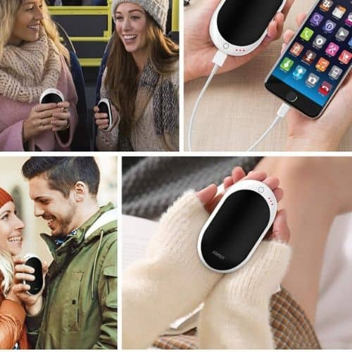 rechargeable hand warmer power bank 12 hours double sided heating winter 7800mah warmth christmas gift iwantthisandthat2